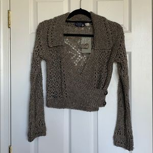 Anthropologie Hand Knit by Dollie Cropped Sweater